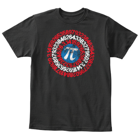 Pi Day 2017 Kids Captain Pi Superhero Black T-Shirt Front