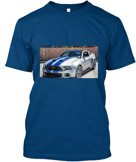 T Shirt Ford Mustang Cool Blue T-Shirt Front