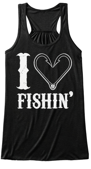 I Live Fishin' Black Women's Tank Top Front