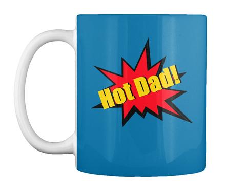 Hot Dad! Royal Blue Mug Front
