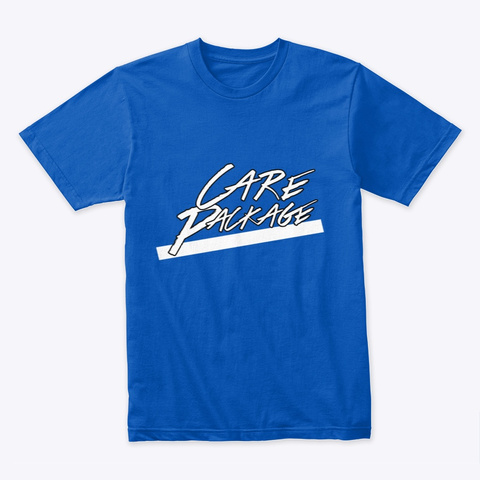 Care Package Text Royal T-Shirt Front