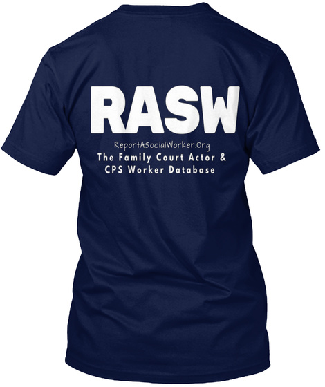Rasw   Stats Don't Lie, Cps Does Graphic Navy T-Shirt Back