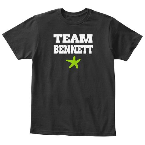 Team Bennett Black T-Shirt Front