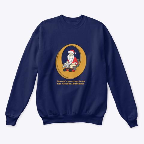 Santa's Sh!T List  Navy  T-Shirt Front