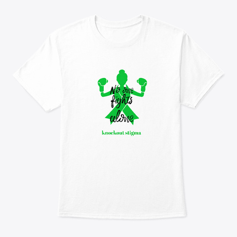 No One Fights Alone Knockout Stigma White T-Shirt Front
