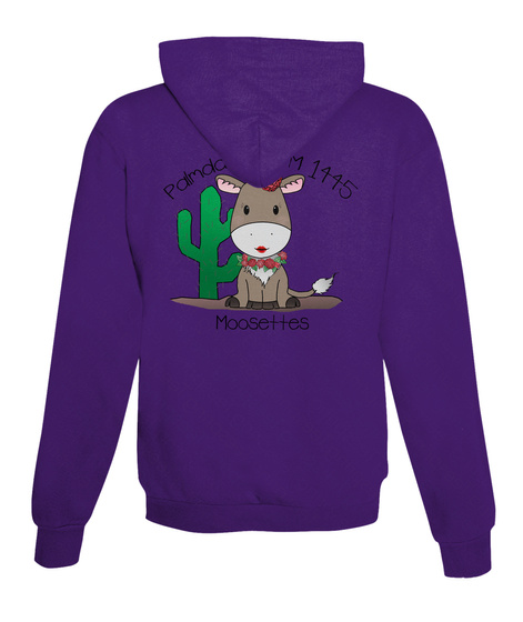 Palmdale Wotm 1445 Moosettes Purple T-Shirt Back