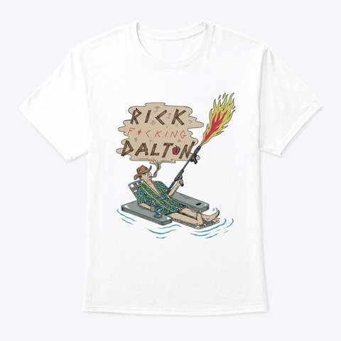 Rick Dalton White T-Shirt Front