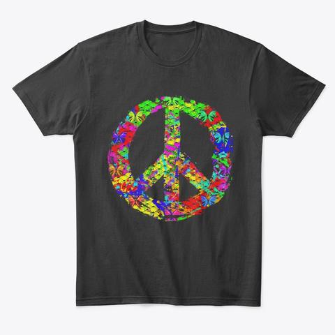 Natural Mosaic Of Peace Black T-Shirt Front