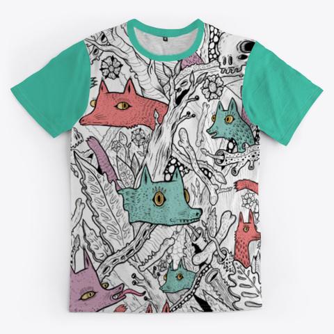 The Woods  Aqua T-Shirt Front