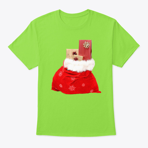 Christmas Gift Bag Lime T-Shirt Front