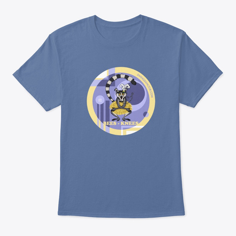 Bees Knees Louise  Denim Blue T-Shirt Front