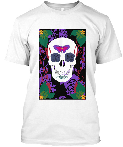 Butterfly Rose Skill White T-Shirt Front
