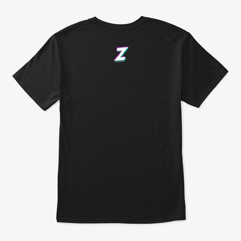Lazer Fonts &Amp; Visuals Logo Black T-Shirt Back