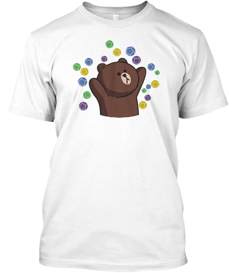 Dorp Bear White T-Shirt Front