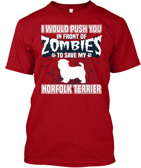 Norfolk Terrier Deep Red T-Shirt Front