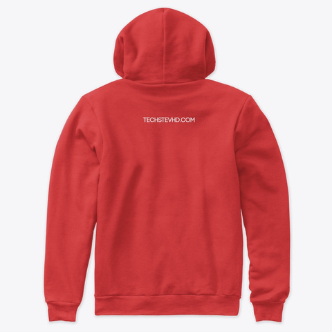 Red / White Premium Pullover Hoodie Red T-Shirt Back