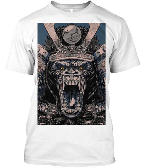 Gorilla Samurai White T-Shirt Front