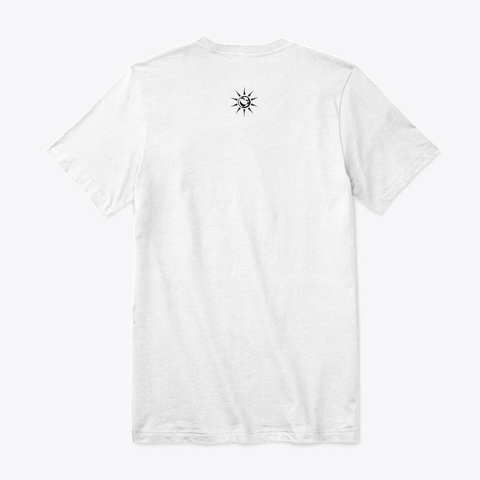 Meditate And Manifest Shit White T-Shirt Back