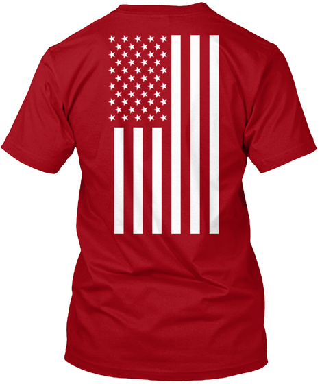 Red Friday: Until They All Come Home Deep Red T-Shirt Back