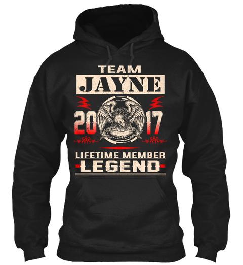 Team Jayne 2017 Black T-Shirt Front