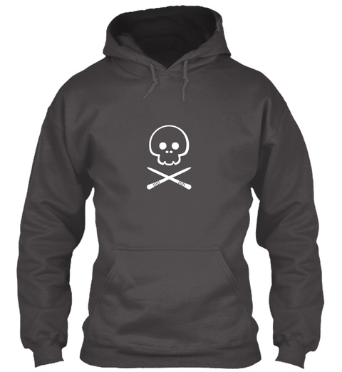 Foodie Hoodie   Lethal Sticks Dark Deep Charcoal T-Shirt Front
