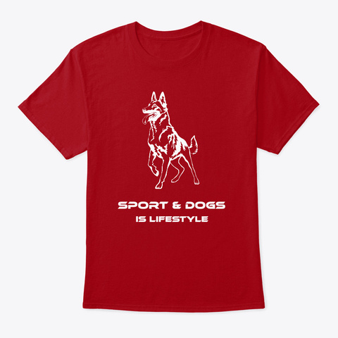 Sport And Dogs Colors Deep Red T-Shirt Front