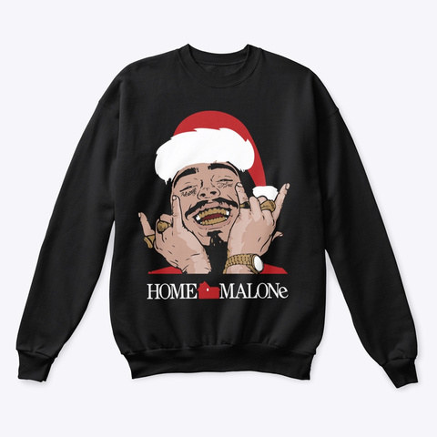 Home Malone Black Sweatshirt Front