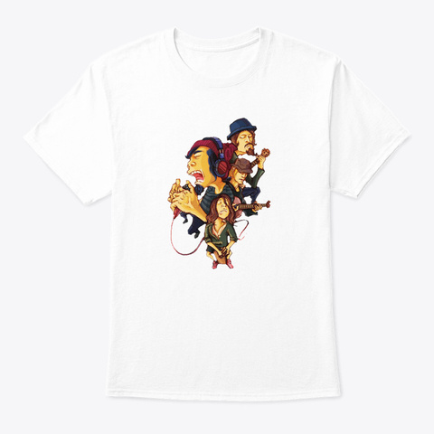 One Ok Rock Funny Art White T-Shirt Front