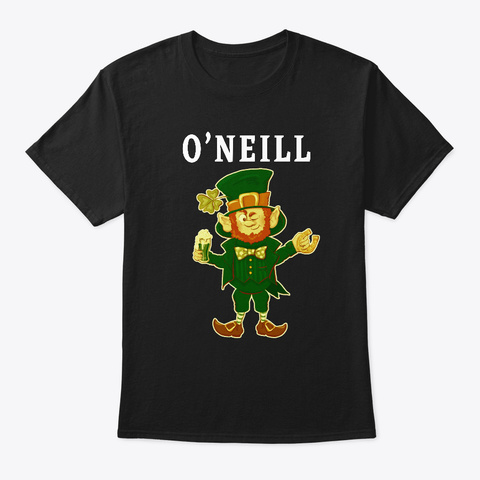 Oneill Luck Of The Irish Saint Pattys Black T-Shirt Front