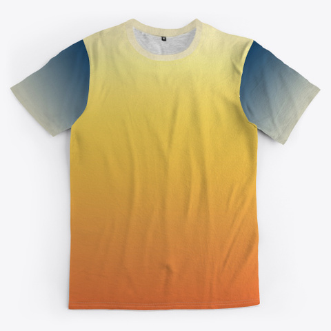 Groovy Abstract Color Gradient Standard T-Shirt Front