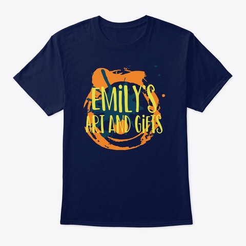 Emily's Art And Gifts Dark Design Navy T-Shirt Front