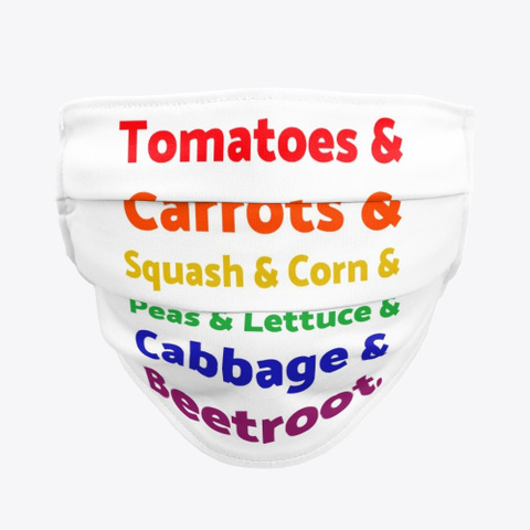 Rainbow List Of Vegetables Standard T-Shirt Front