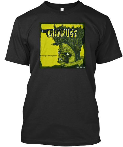 The Crampugs Black T-Shirt Front