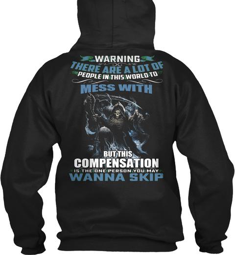 Compensation Black T-Shirt Back