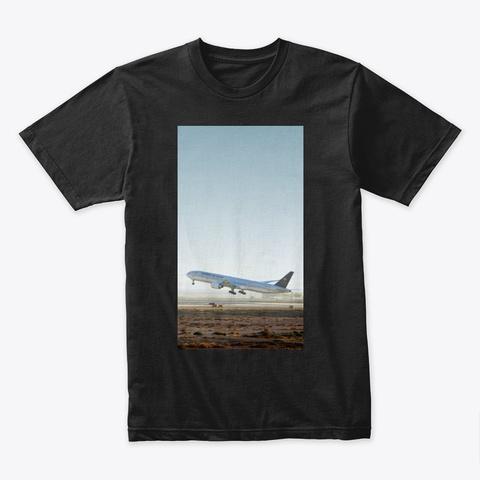 Saudia 777 300 Er Takeoff Black T-Shirt Front
