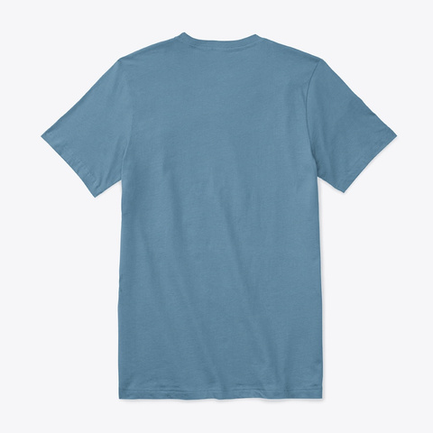 Bella+Canvas Unisex Premium Jersey V Nec Steel Blue T-Shirt Back