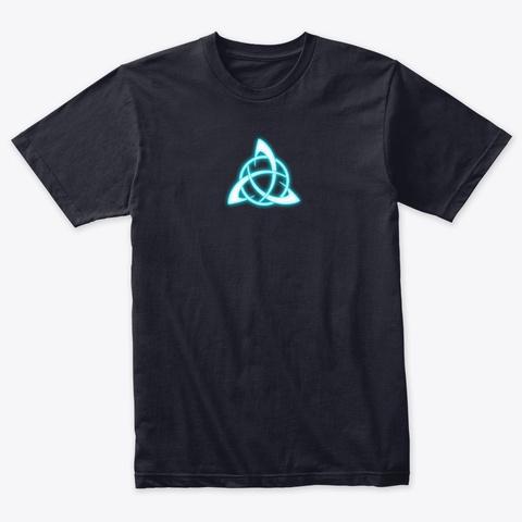 Senshido Arc Reactor Logo Vintage Navy T-Shirt Front