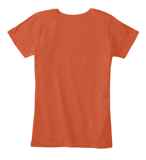 A Women's Place T Shirt Deep Orange áo T-Shirt Back