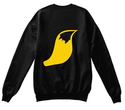 Fox Sweatshirt Black Suéter Back