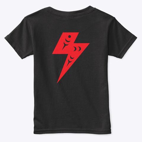 B4/Bc Red Serpent Bolt Black T-Shirt Back