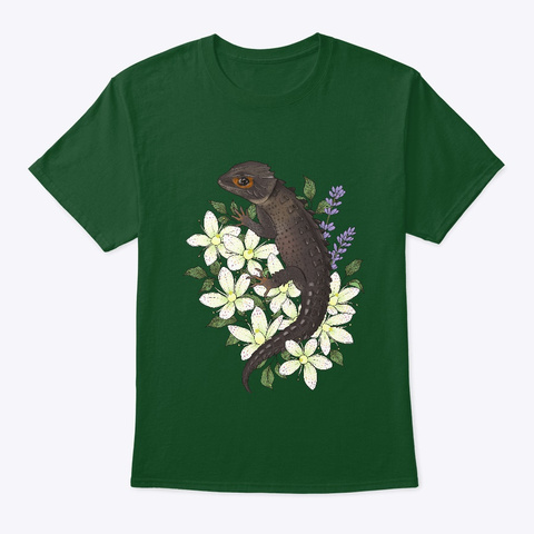 Fugaku And Flowers Deep Forest T-Shirt Front