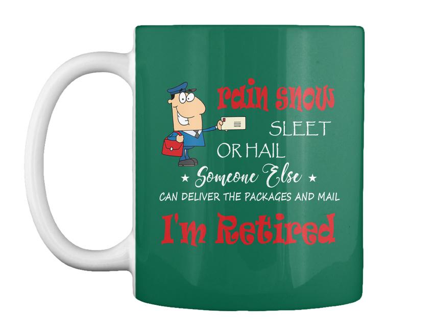miniature 41 - Funny Retired Postal Worker Mailman Tee - Rain Suck Sleet Or Gift Coffee Mug