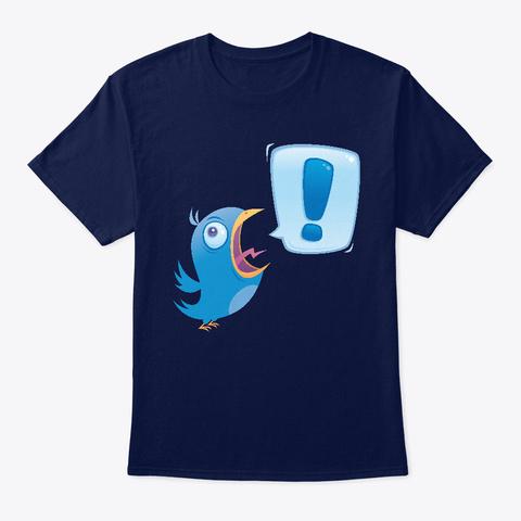Shouting Bluebird Navy T-Shirt Front
