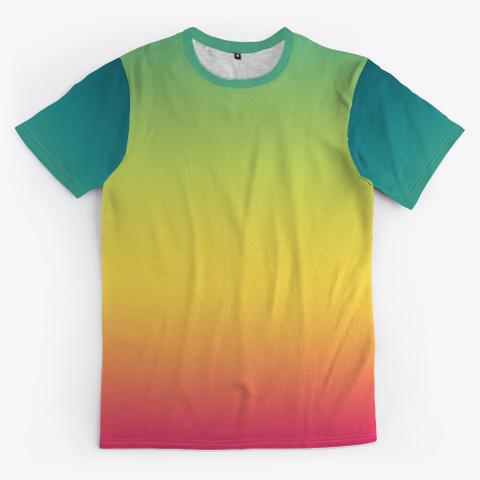 Izo Abstract Color Gradient Minimal Art Standard T-Shirt Front