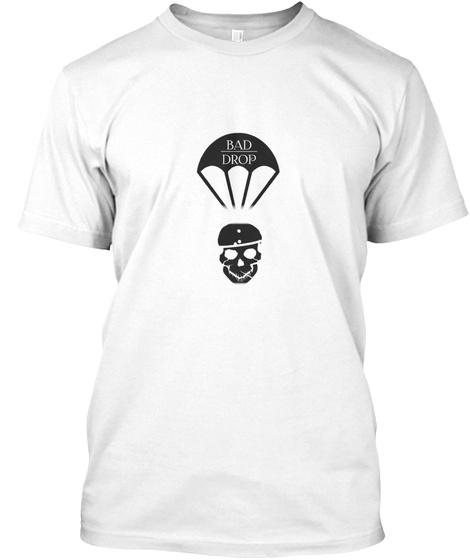 Baddrop Black Shirt White T-Shirt Front
