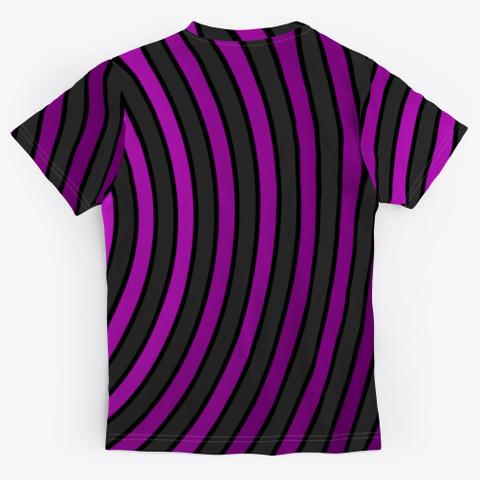 Archimedean Spiral Series   Fuchsia Black T-Shirt Back