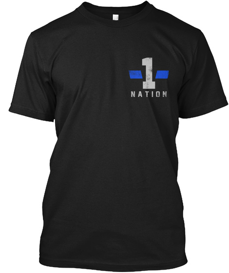 1 Nation Black Maglietta Front