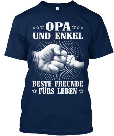Opa Und Enkel Beste Freunde Furs Leben Navy T-Shirt Front