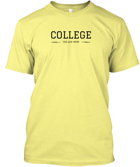 College The Low Down Lemon Yellow  T-Shirt Front
