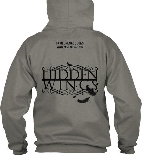 Hidden Wings Cameorenaebooks Www.Cameorenae.Com Hidden Wings Charcoal T-Shirt Back